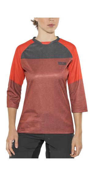 IXS Vibe 6.1 BC - Maillot manches courtes Femme - rouge/noir